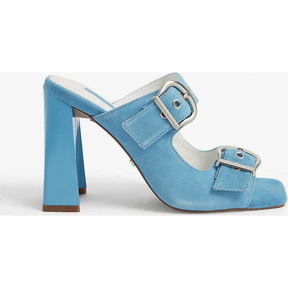 トップショップ TOPSHOP レディース サンダル・ミュール シューズ・靴【Regine buckle mules】BLUE