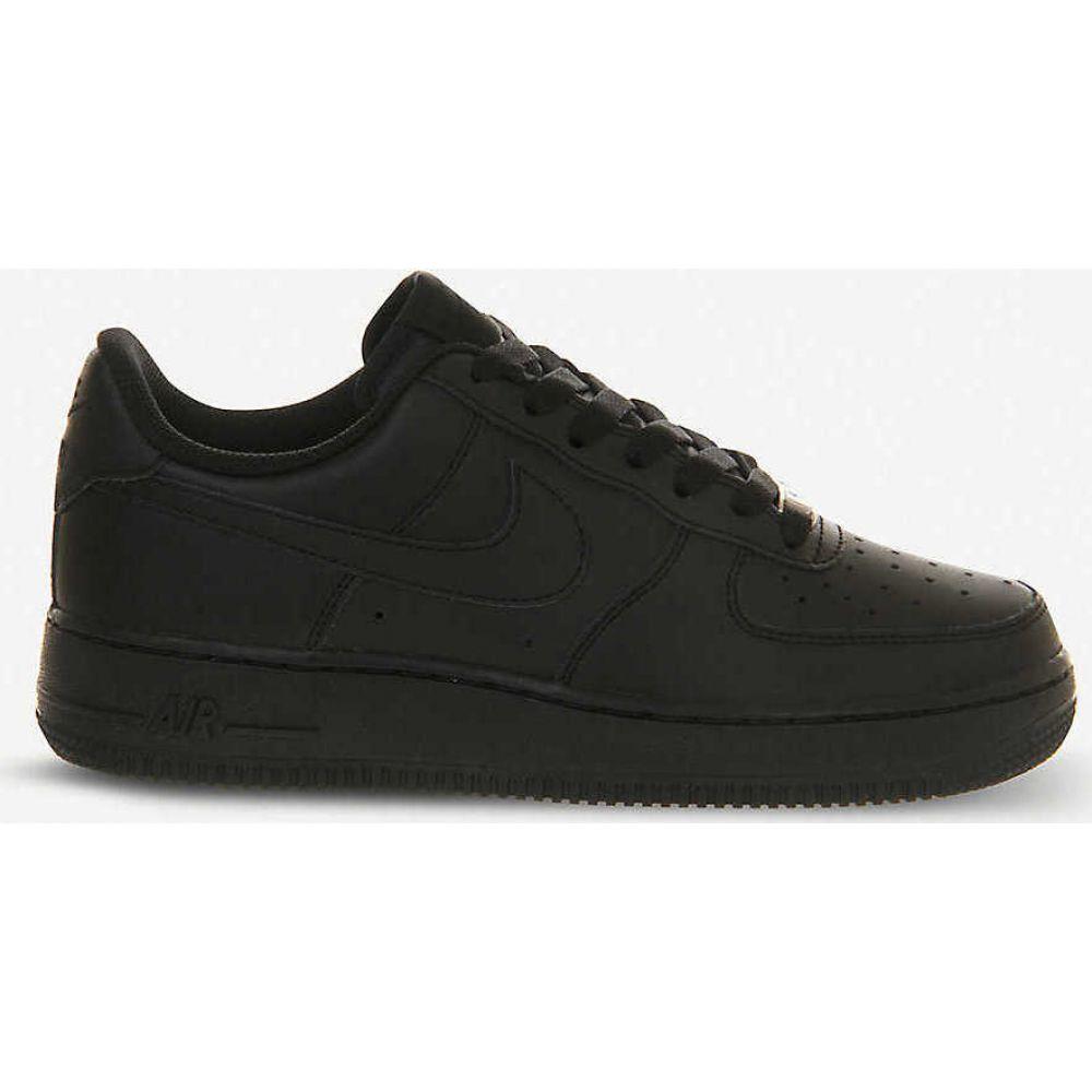 ナイキ NIKE レディース スニーカー シューズ・靴【Air Force 1 leather trainers】BLACK