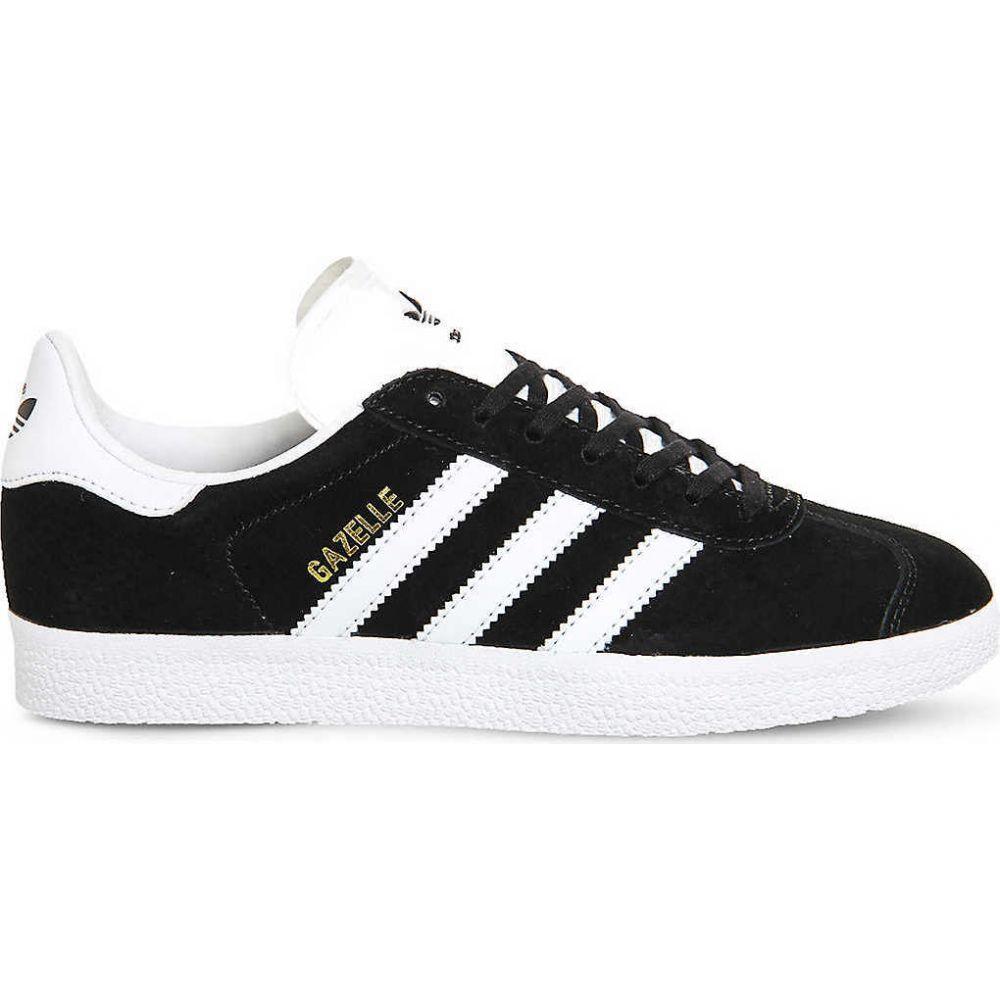 アディダス ADIDAS レディース スニーカー シューズ・靴【Gazelle suede trainers】CORE BLACK WHITE