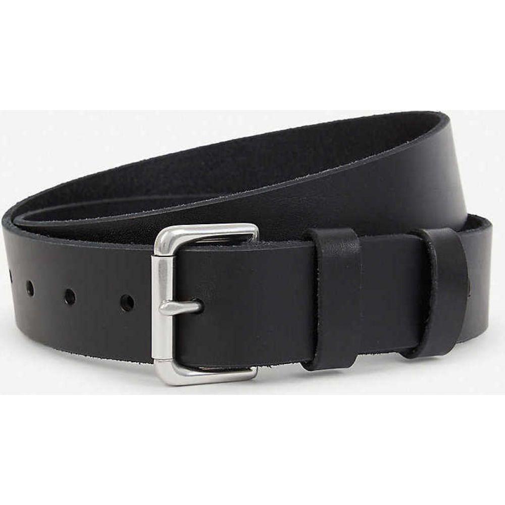 ラルフ ローレン POLO RALPH LAUREN メンズ ベルト 【Double-keeper leather belt】BLACK