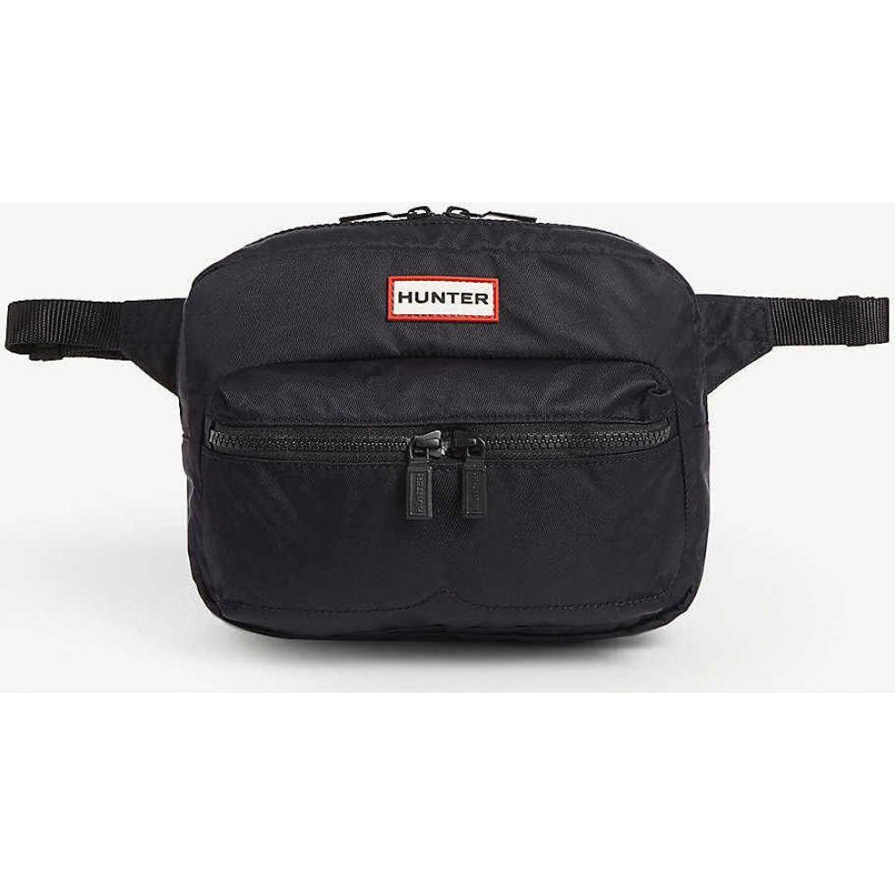 ハンター HUNTER レディース ボディバッグ・ウエストポーチ バッグ【Original crossbody nylon bum bag】BLACK