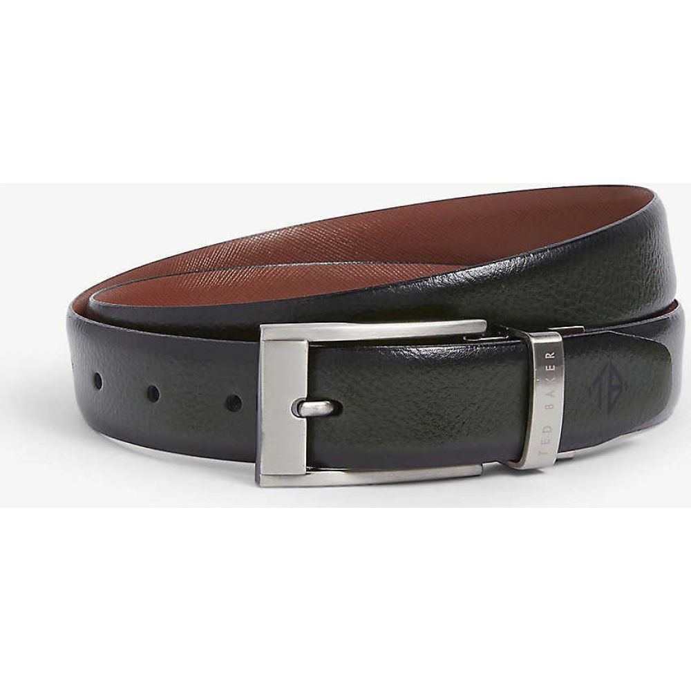 テッドベーカー TED BAKER メンズ ベルト 【Grained leather belt】DK-GREEN
