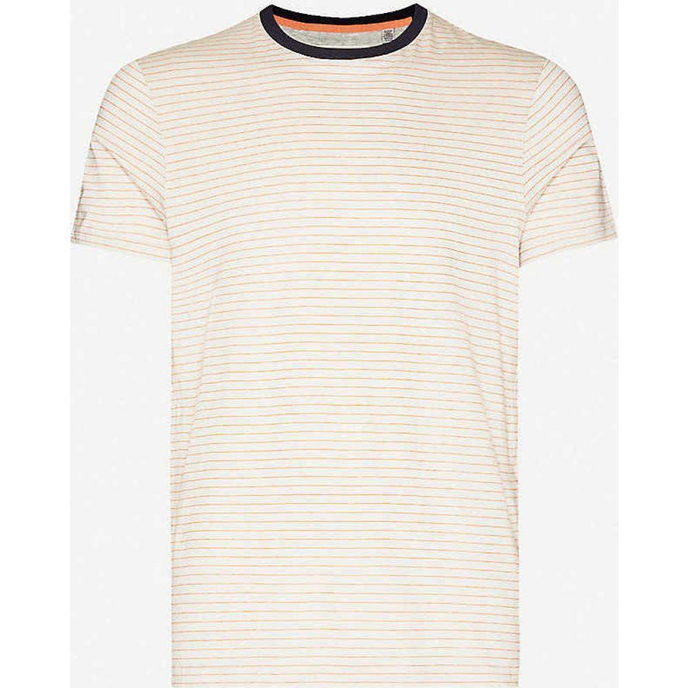 テッドベーカー TED BAKER メンズ Tシャツ トップス【Striped short sleeve cotton-jersey T-shirt】NATURAL