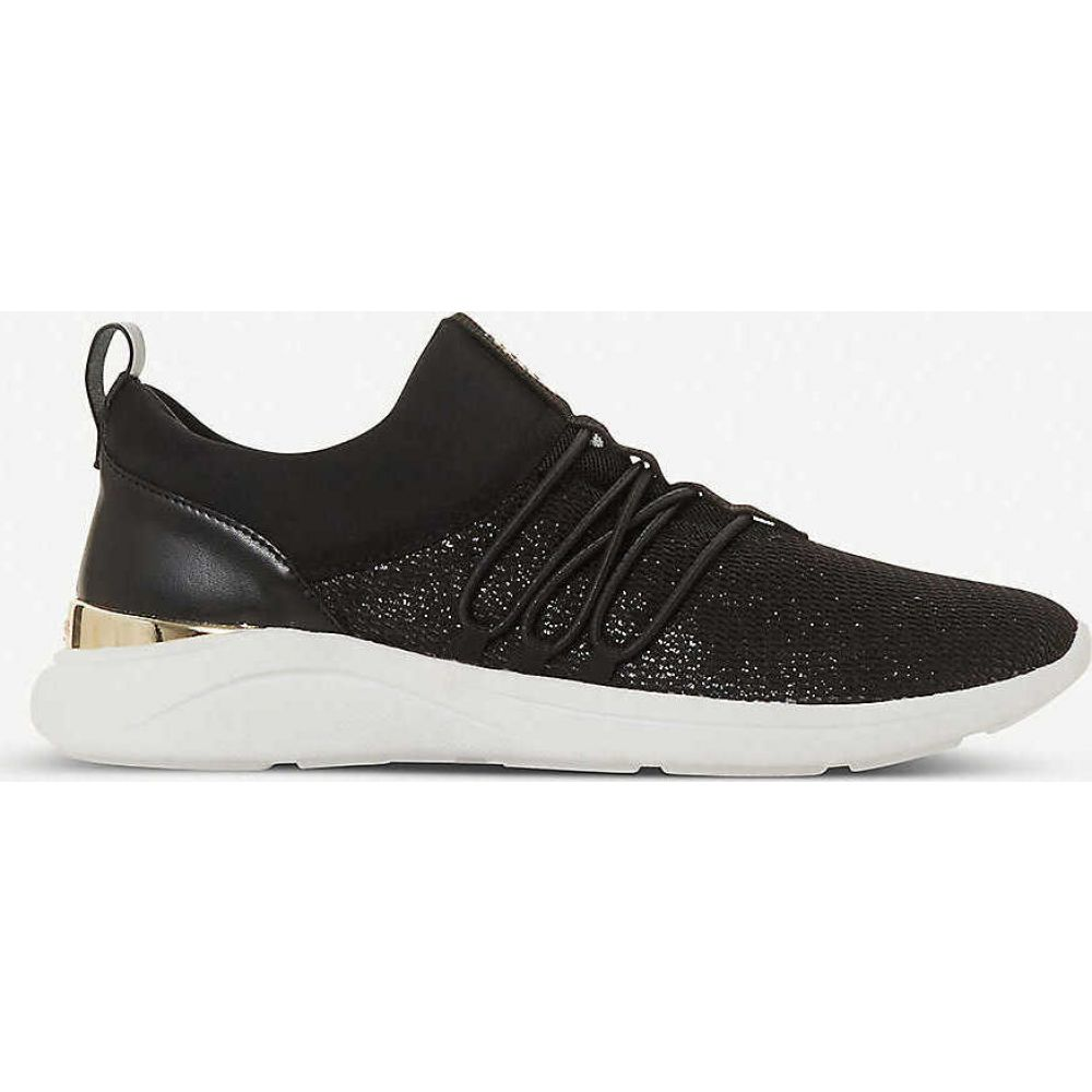 デューン DUNE レディース スニーカー シューズ・靴【Elwood embellished knit trainers】BLACK-FABRIC