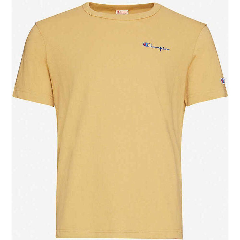 チャンピオン CHAMPION メンズ Tシャツ トップス【Logo-embroidered cotton-jersey T-shirt】Tan