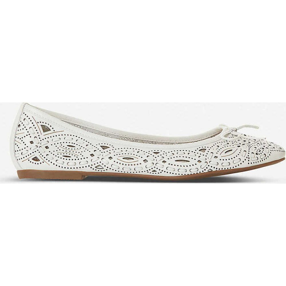 デューン DUNE レディース スリッポン・フラット シューズ・靴【Hansen studded leather ballet pumps】WHITE-LEATHER