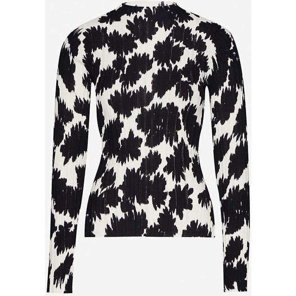 トップショップ TOPSHOP レディース トップス 【Boutique floral cotton-knit top】LAVENDER