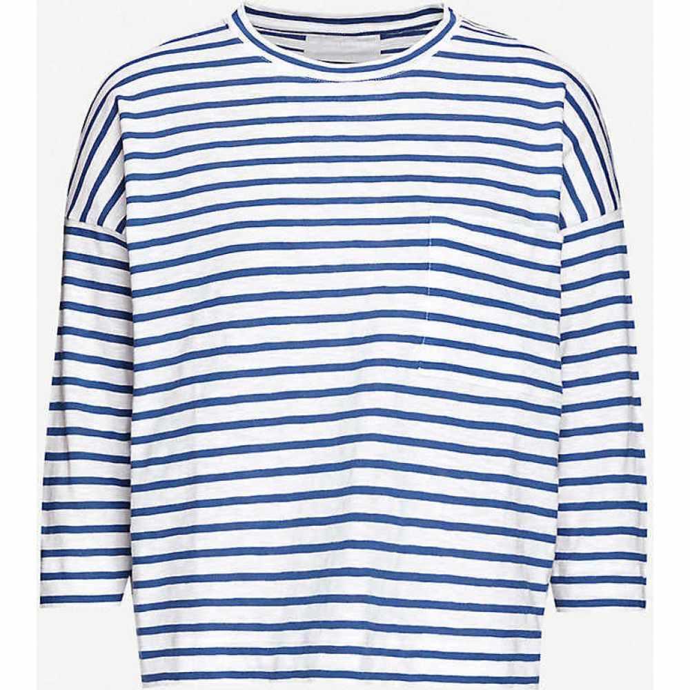 ホイッスルズ WHISTLES レディース トップス 【Striped cotton-jersey top】MULTI-COLOURED