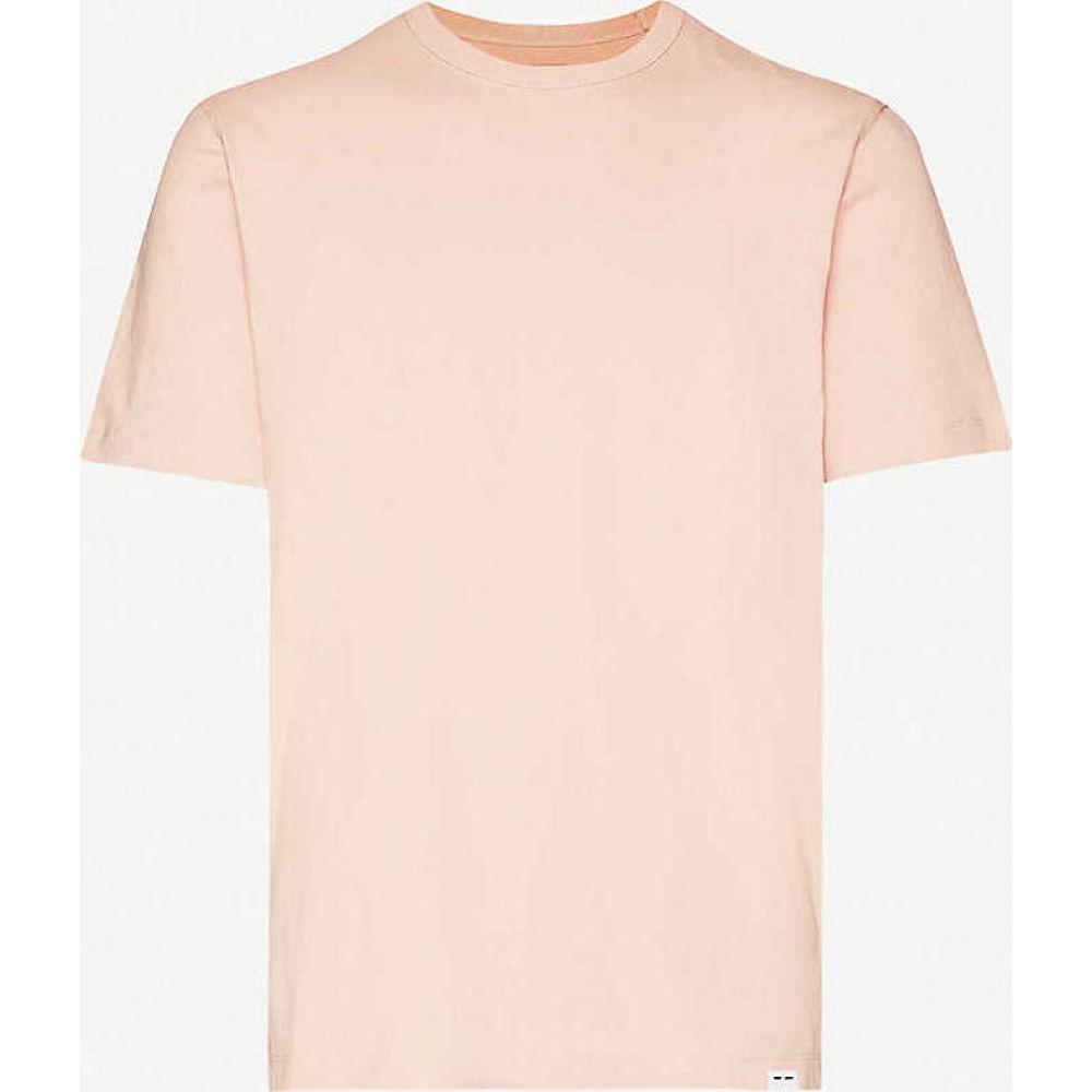 サムソエ&サムソエ SAMSOE & SAMSOE メンズ Tシャツ トップス【Hugo crewneck cotton-jersey T-shirt】Misty Rose