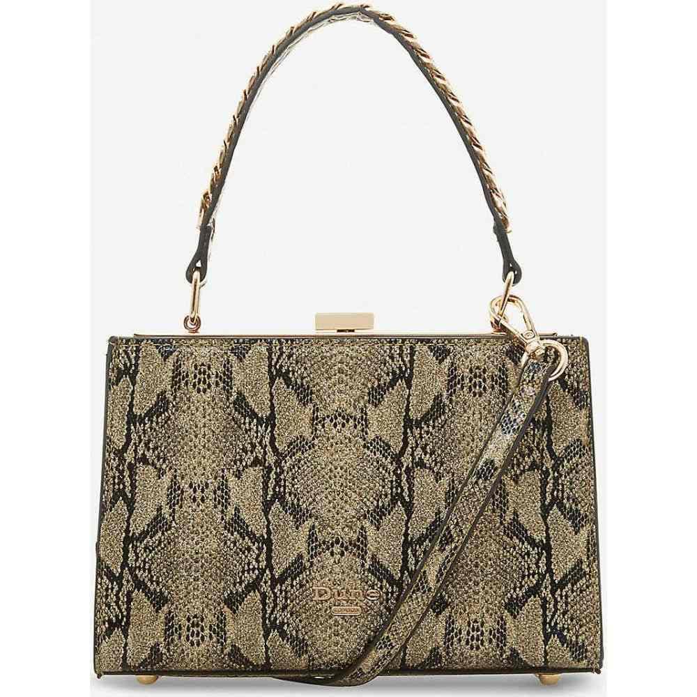 デューン DUNE レディース ショルダーバッグ バッグ【Dinkydlady snake-embossed woven shoulder bag】GOLD-REPTILE SYNTHETIC