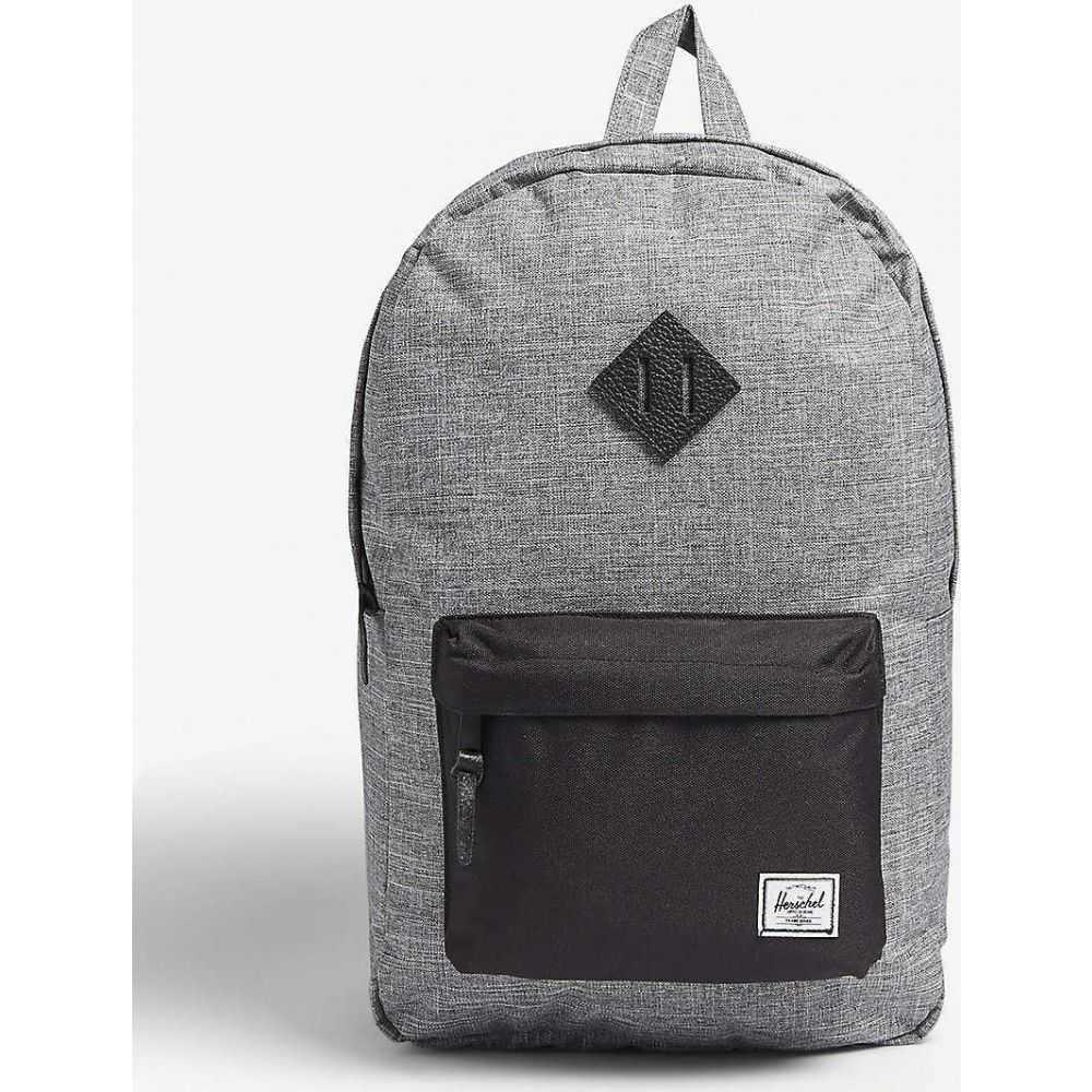 ハーシェル サプライ HERSCHEL SUPPLY CO メンズ バックパック・リュック バッグ【Hertiage canvas backpack】RAVEN CROSSHATCH/BLACK