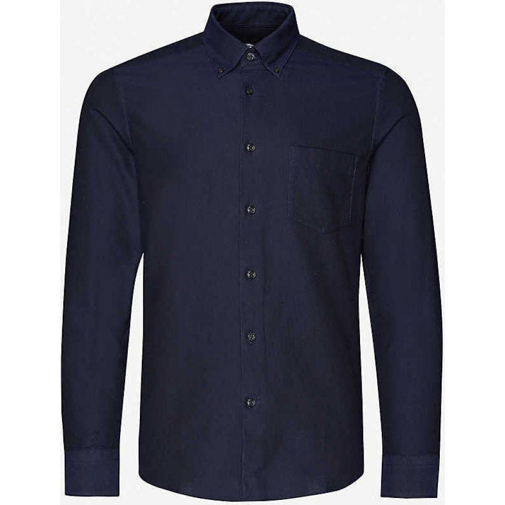 リース REISS メンズ シャツ トップス【Greenwich slim-fit cotton Oxford shirt】NAVY