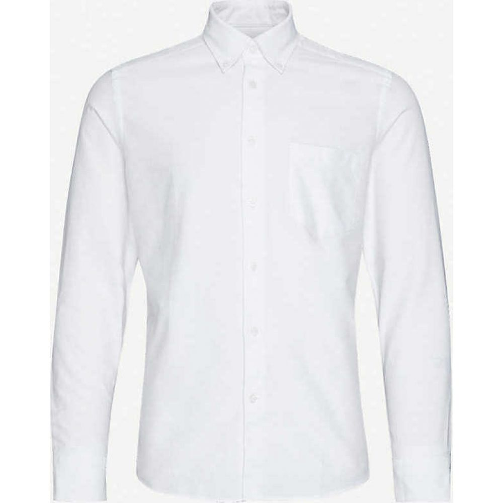 リース REISS メンズ シャツ トップス【Greenwich slim-fit cotton Oxford shirt】WHITE