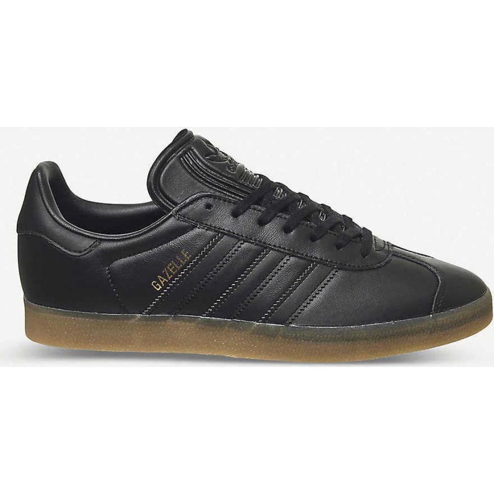 アディダス ADIDAS メンズ スニーカー レースアップ シューズ・靴【Gazelle lace-up leather trainers】CORE BLACK GUM