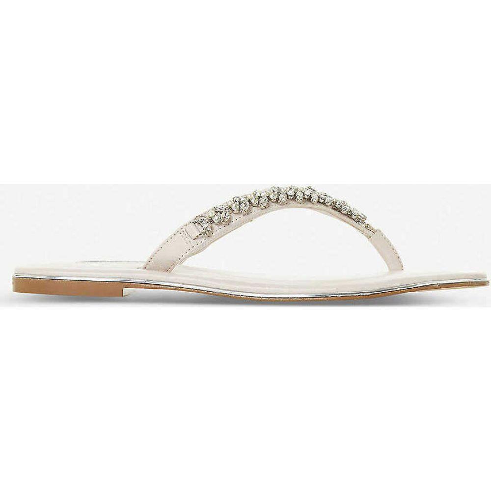 デューン DUNE レディース ビーチサンダル シューズ・靴【Newbeys embellished flip flops】CREAM-LEATHER