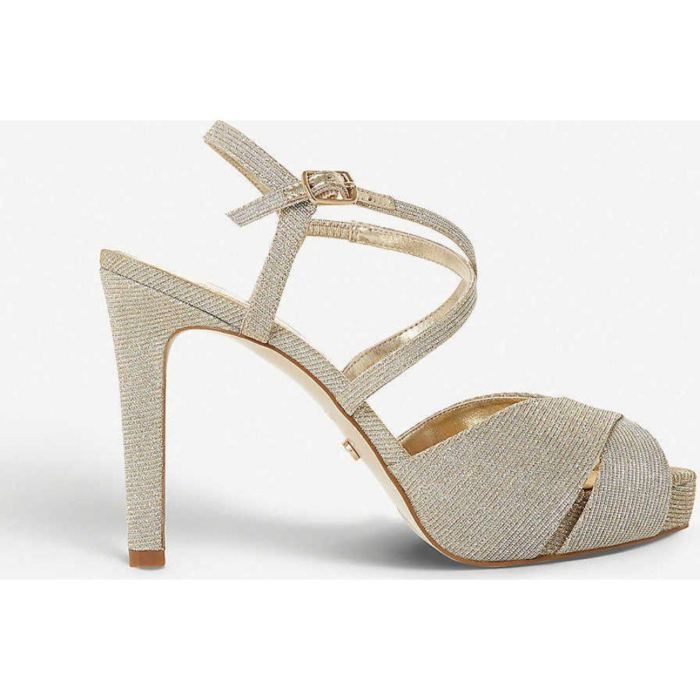 デューン DUNE レディース サンダル・ミュール シューズ・靴【Mishaa metallic platform sandals】GOLD-FABRIC