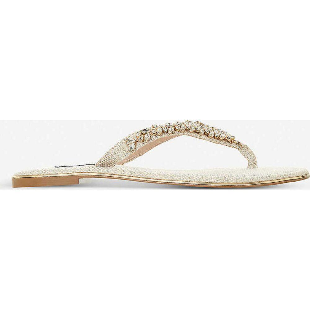 デューン DUNE レディース ビーチサンダル シューズ・靴【Newbeys embellished flip-flops】NATURAL-CANVAS