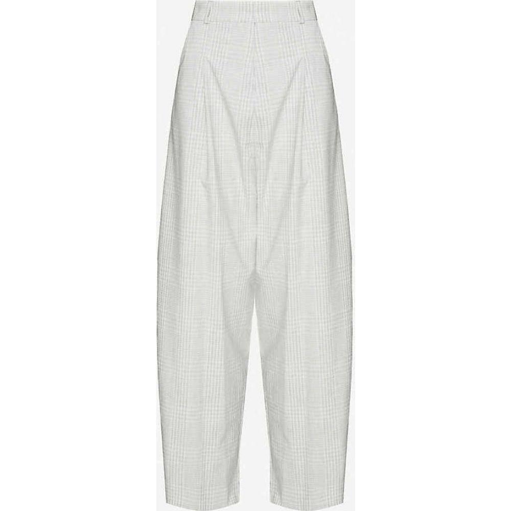 トップショップ TOPSHOP レディース ボトムス・パンツ 【Mercer checked wide high-rise woven trousers】GREY
