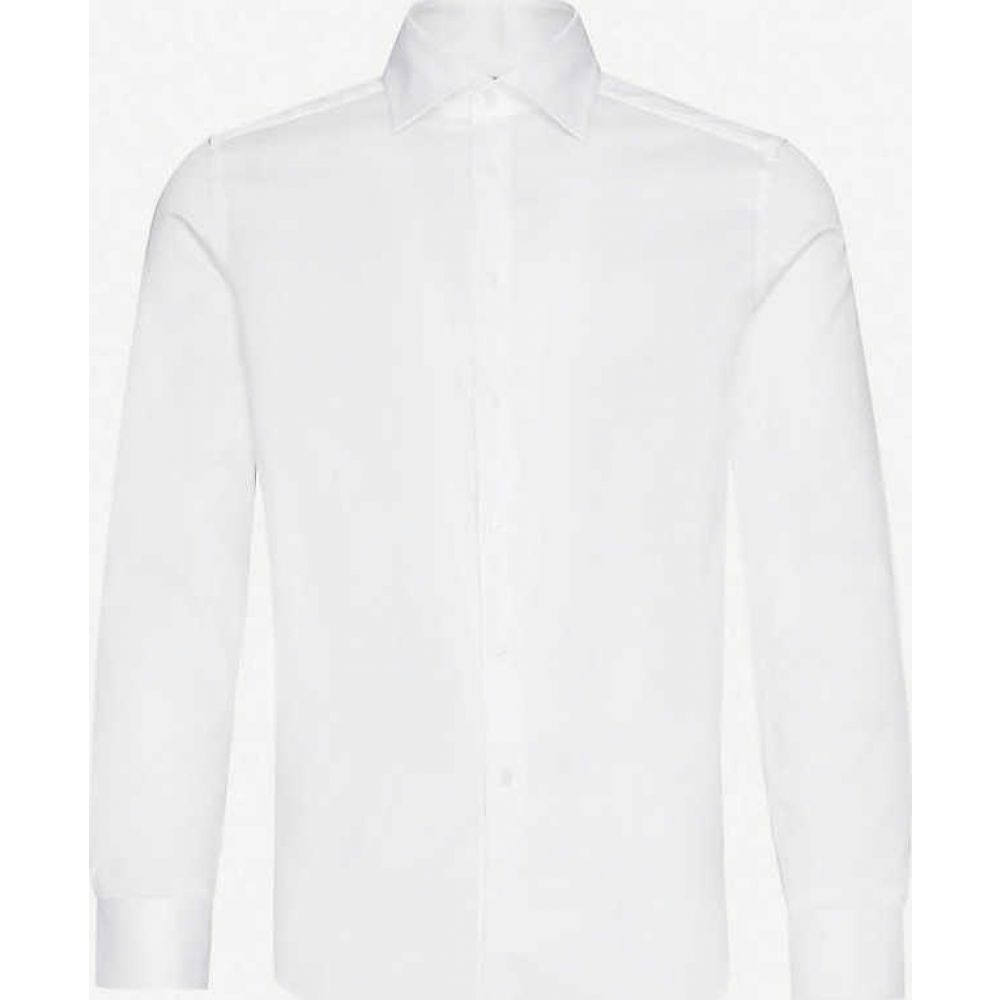 リース REISS メンズ シャツ トップス【Frontier slim-fit stretch-cotton shirt】WHITE