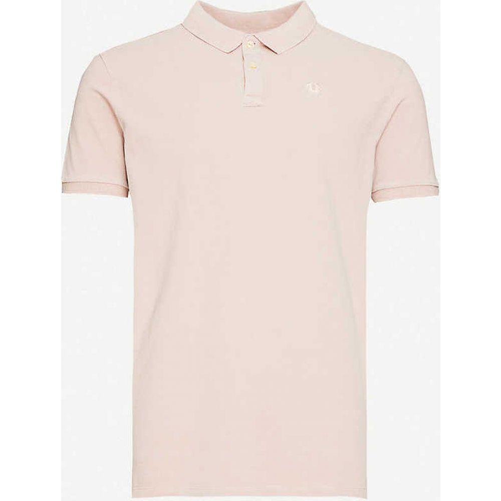 トゥルー レリジョン TRUE RELIGION メンズ ポロシャツ トップス【Logo cotton-pique polo shirt】Old Pink