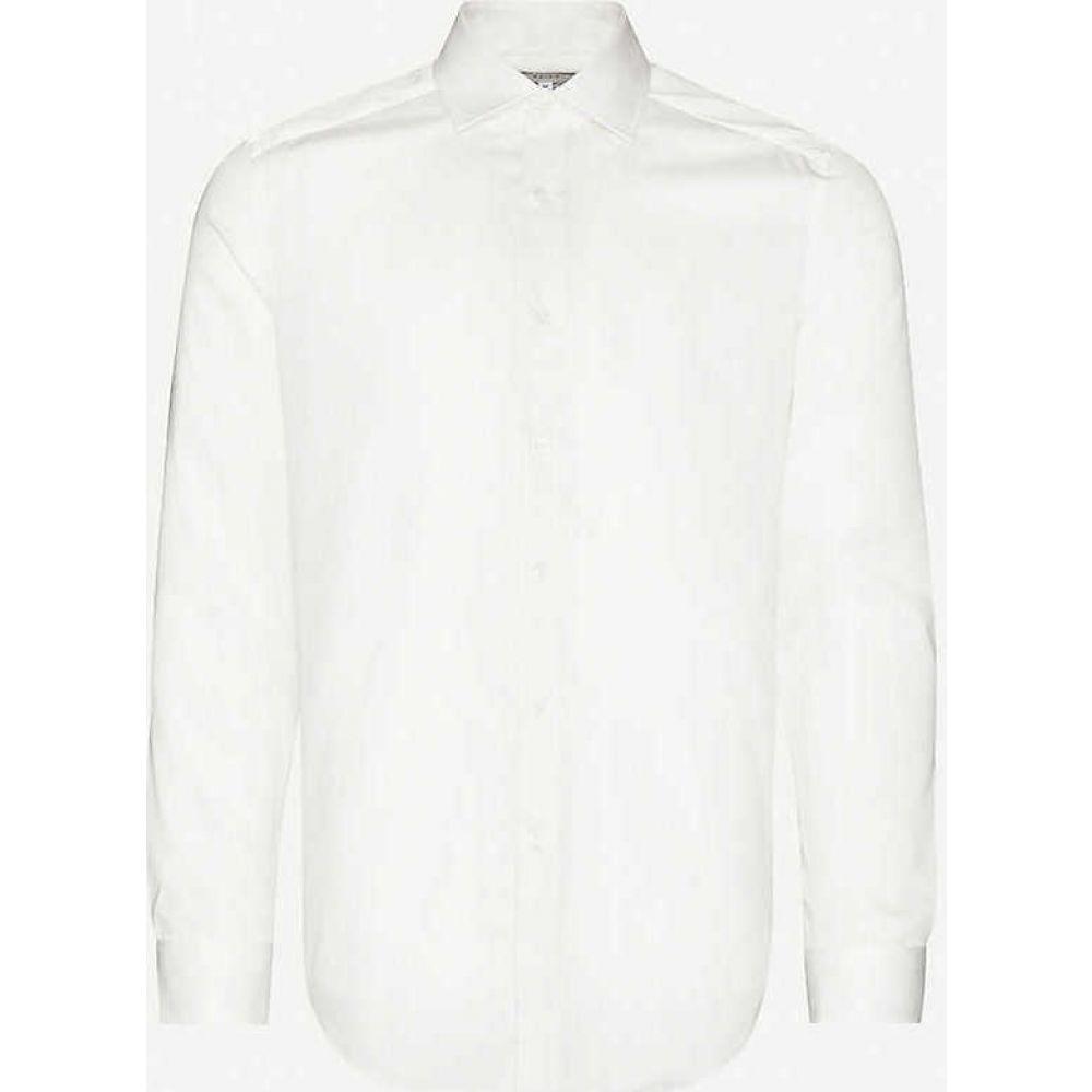 リース REISS メンズ シャツ トップス【Remote slim-fit cotton shirt】IVORY