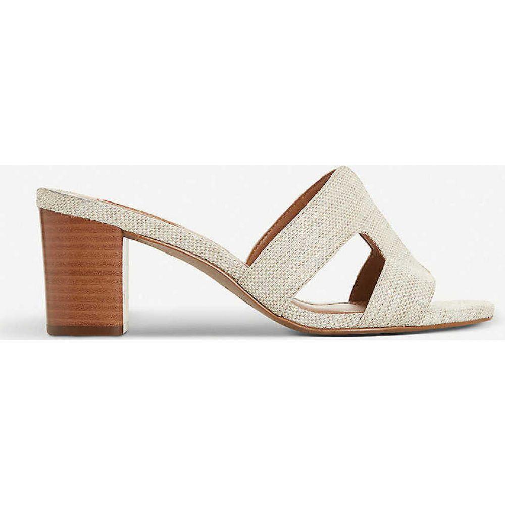 デューン DUNE レディース サンダル・ミュール シューズ・靴【Joupe block-heel canvas mules】NATURAL-CANVAS