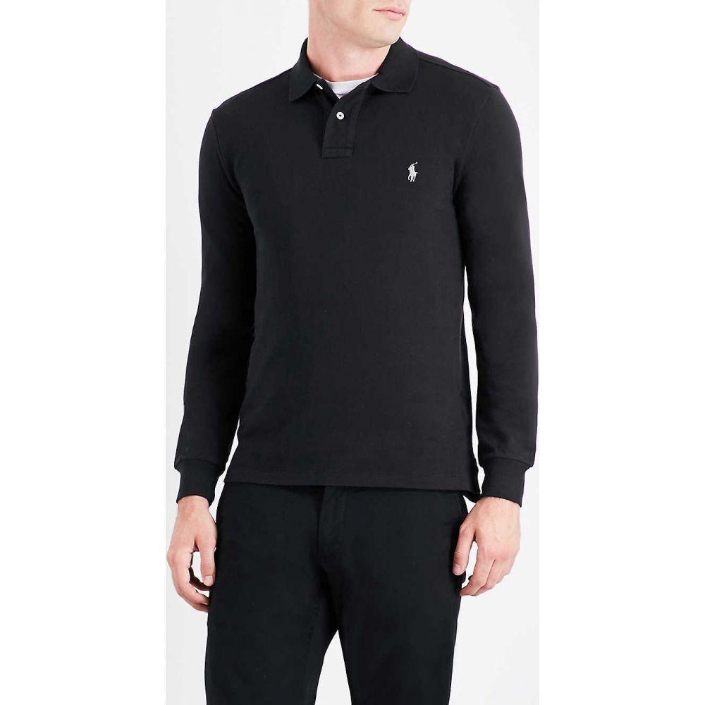 ラルフ ローレン POLO RALPH LAUREN メンズ ポロシャツ トップス【Long-sleeved cotton-pique polo shirt】BLACK