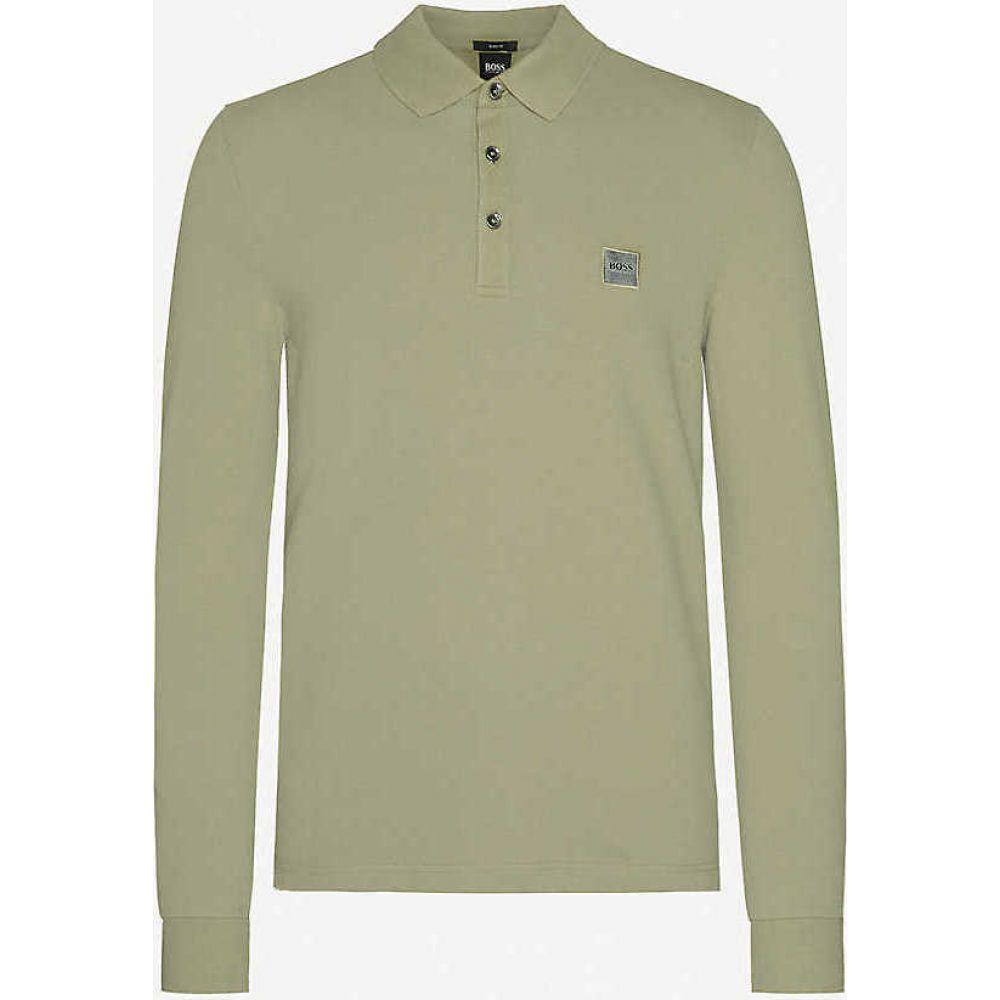 ヒューゴ ボス BOSS メンズ ポロシャツ トップス【Leisure cotton-jersey polo shirt】Open Green
