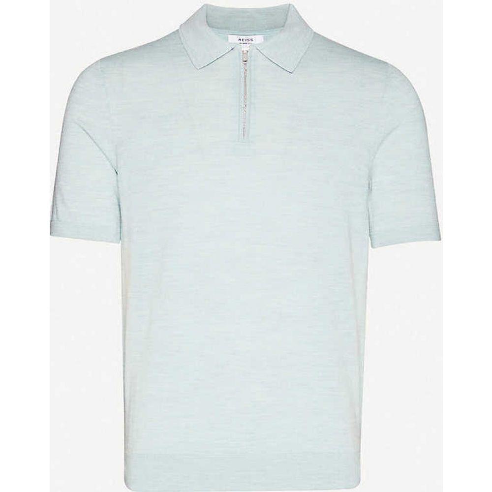 リース REISS メンズ ポロシャツ トップス【Maxwell merino wool polo shirt】MINT