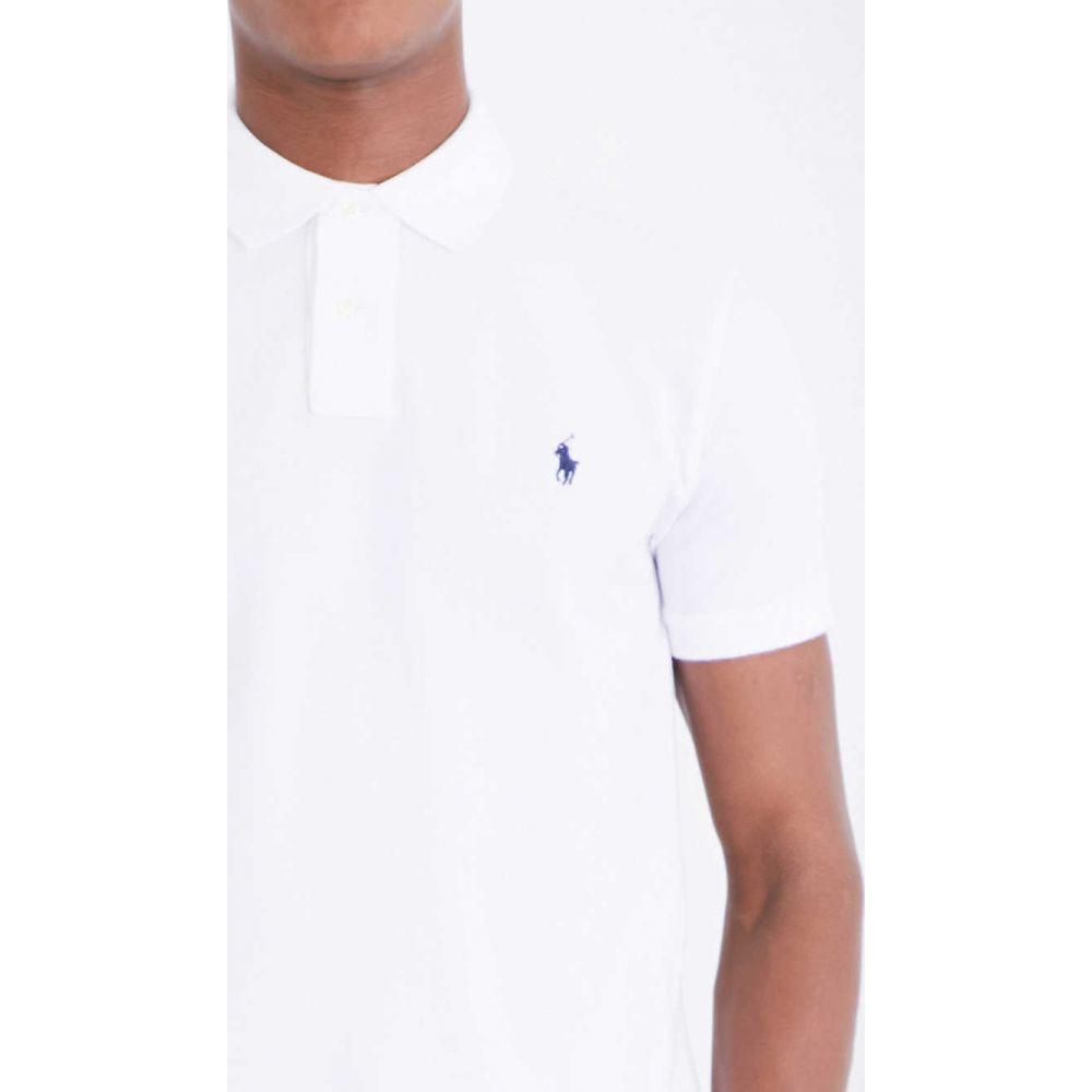ラルフ ローレン POLO RALPH LAUREN メンズ ポロシャツ トップス【Slim-fit cotton-pique polo shirt】WHITE