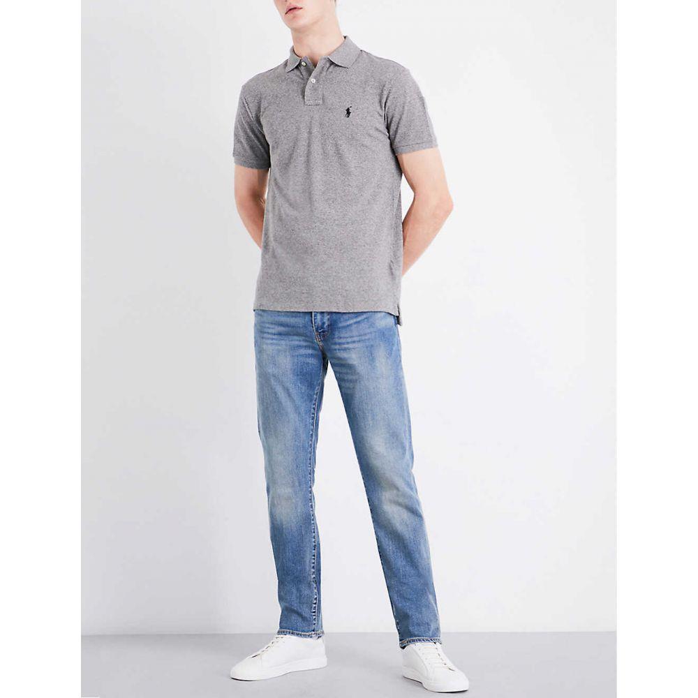 ラルフ ローレン POLO RALPH LAUREN メンズ ポロシャツ トップス【Slim-fit cotton-pique polo shirt】CANTERBURY HEATHER