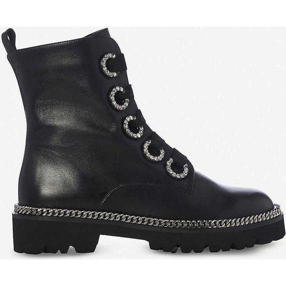 デューン DUNE レディース ブーツ シューズ・靴【Pavvillion chain welt leather biker boots】BLACK-LEATHER