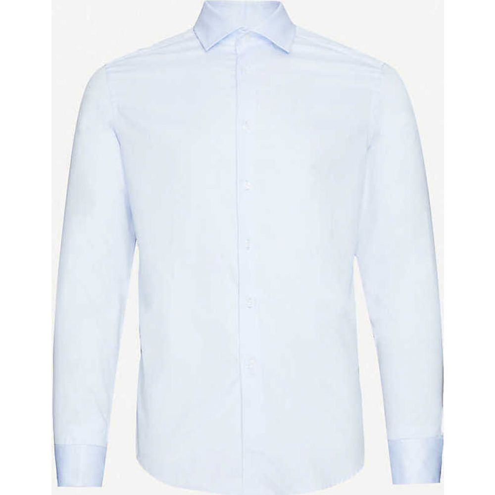 リース REISS メンズ シャツ トップス【Detroller slim-fit cotton-twill shirt】SOFT BLUE