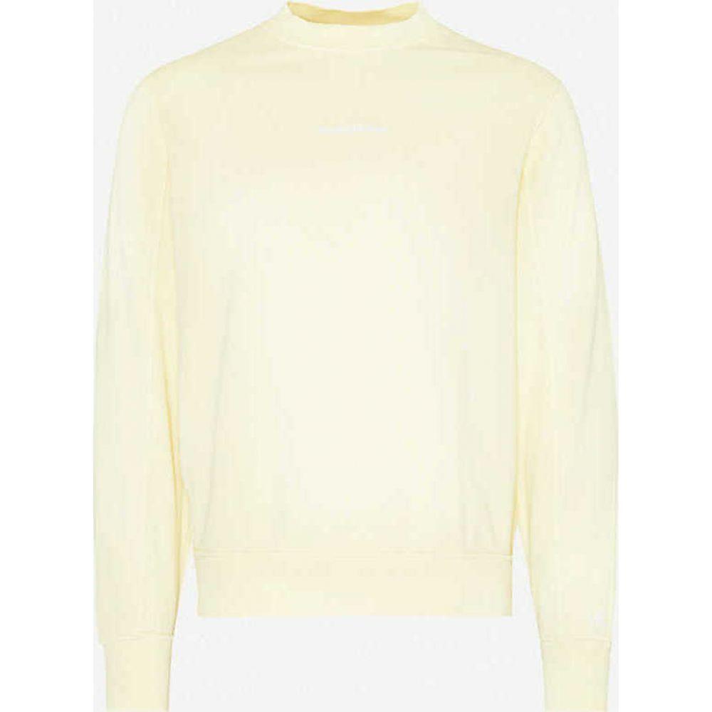 カルバンクライン CK JEANS メンズ スウェット・トレーナー トップス【Logo-embroidered crewneck cotton-jersey sweatshirt】Yellow