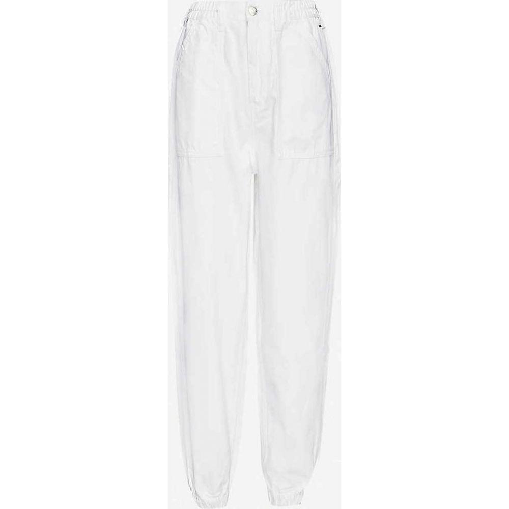 トミー ジーンズ TOMMY JEANS レディース ジーンズ・デニム ボトムス・パンツ【Elasticated wide-leg high-rise jeans】CLASSIC WHITE