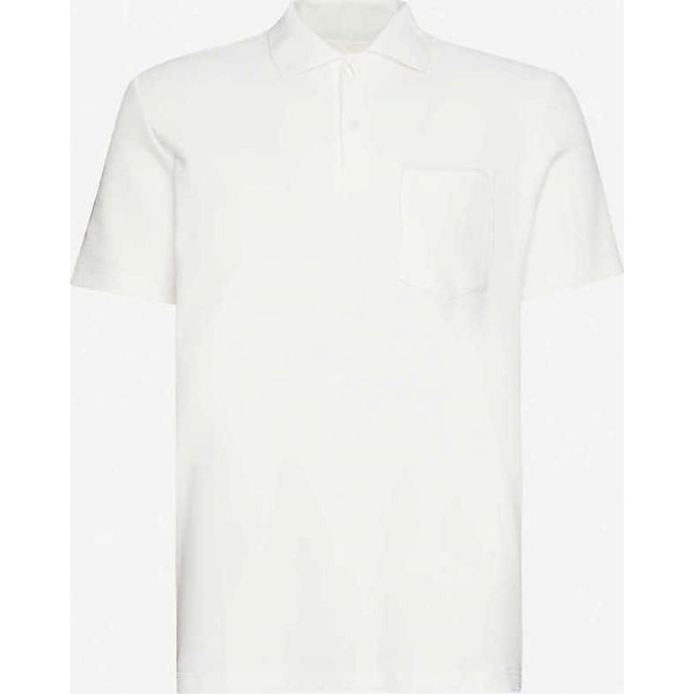 サムソエ&サムソエ SAMSOE & SAMSOE メンズ ポロシャツ トップス【Taranto regular-fit cotton-pique polo shirt】Lily White