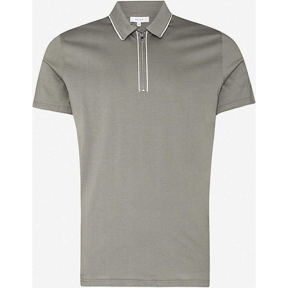 リース REISS メンズ ポロシャツ トップス【Nathan slim-fit cotton polo shirt】ARGENTO