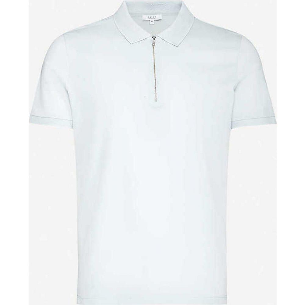リース REISS メンズ ポロシャツ トップス【Jude cotton-pique polo shirt】LIGHT BLUE