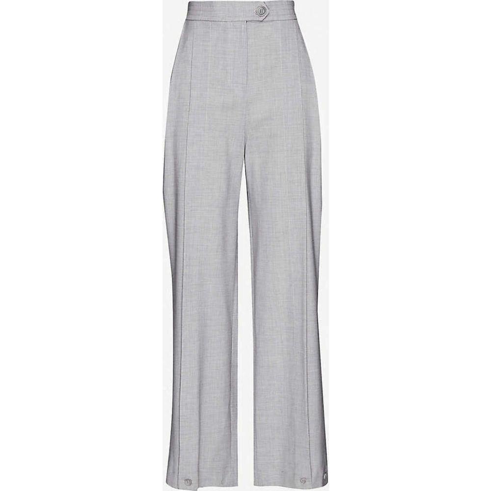 トップショップ TOPSHOP レディース ボトムス・パンツ 【Pleated wide-leg high-rise stretch wool-blend trousers】LIGHT GREY