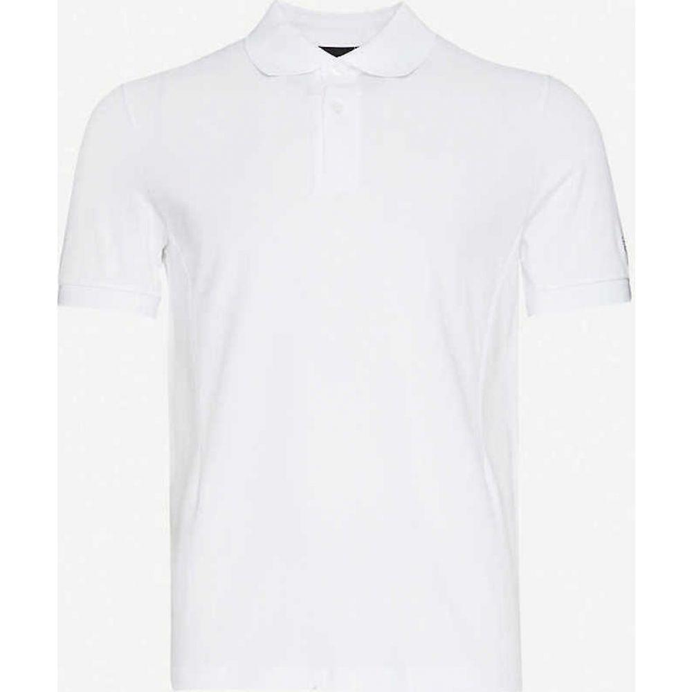 ラフ シモンズ RAF SIMONS X FRED PERRY メンズ ポロシャツ トップス【Laurel slim-fit cotton-pique polo shirt】White