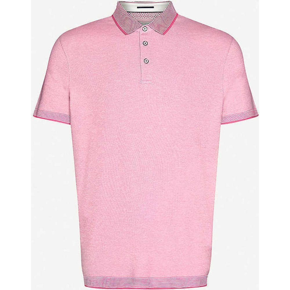 テッドベーカー TED BAKER メンズ ポロシャツ トップス【Ribstart cotton-pique polo shirt】PINK
