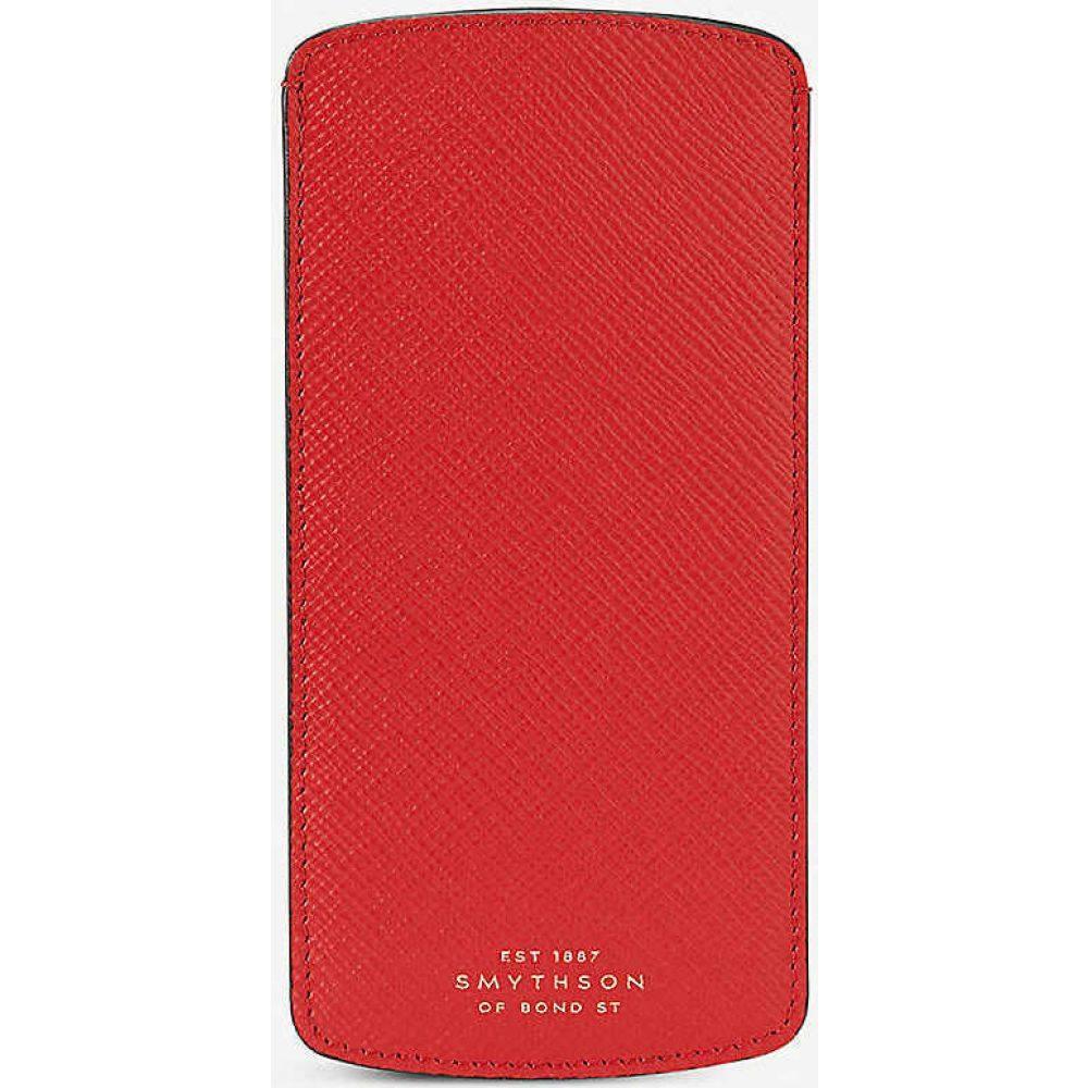 スマイソン SMYTHSON レディース 雑貨 【Panama leather glasses case】Red