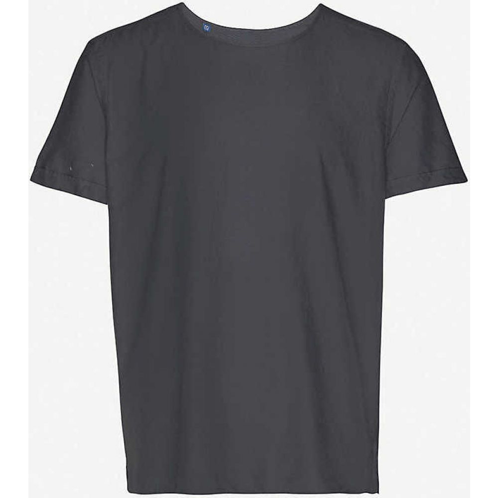イートン ETON メンズ Tシャツ トップス【Cotton and silk-blend T-shirt】Black