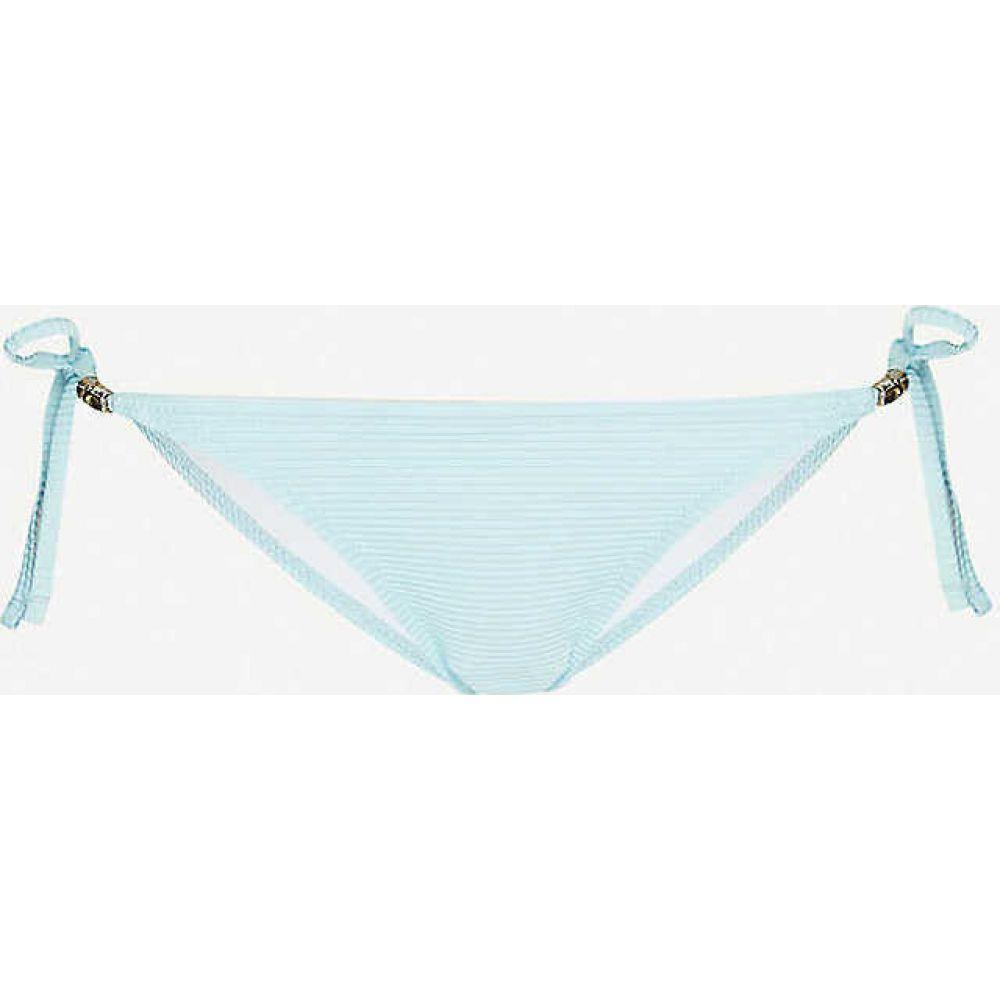 ハイジ クライン HEIDI KLEIN レディース ボトムのみ 水着・ビーチウェア【Marseille side-tie bikini bottoms】AQUA