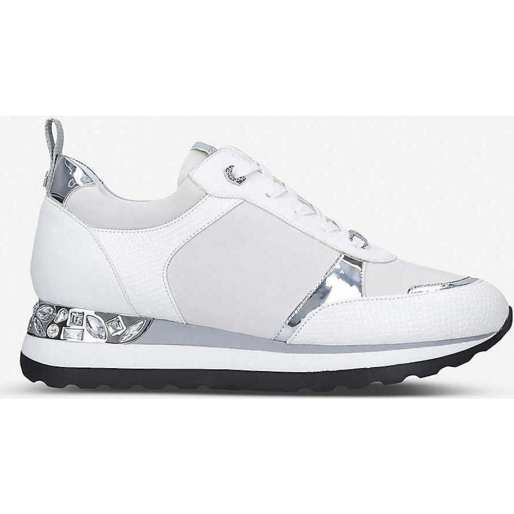カーベラ CARVELA レディース スニーカー シューズ・靴【Jemm crystal-embellished panelled trainers】WHITE