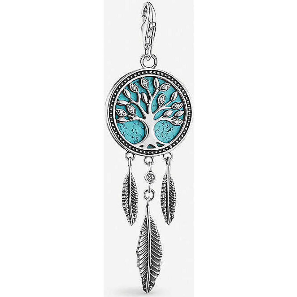 トーマスサボ THOMAS SABO レディース ジュエリー・アクセサリー 【Charm Club Tree of Love sterling silver and cubic zirconia charm】turquoise