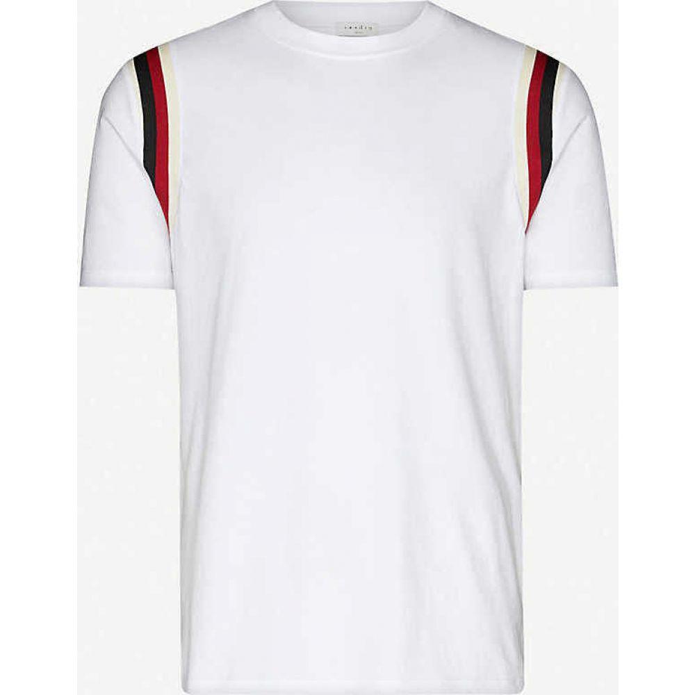 サンドロ SANDRO メンズ Tシャツ トップス【Striped cotton-jersey T-shirt】WHITE