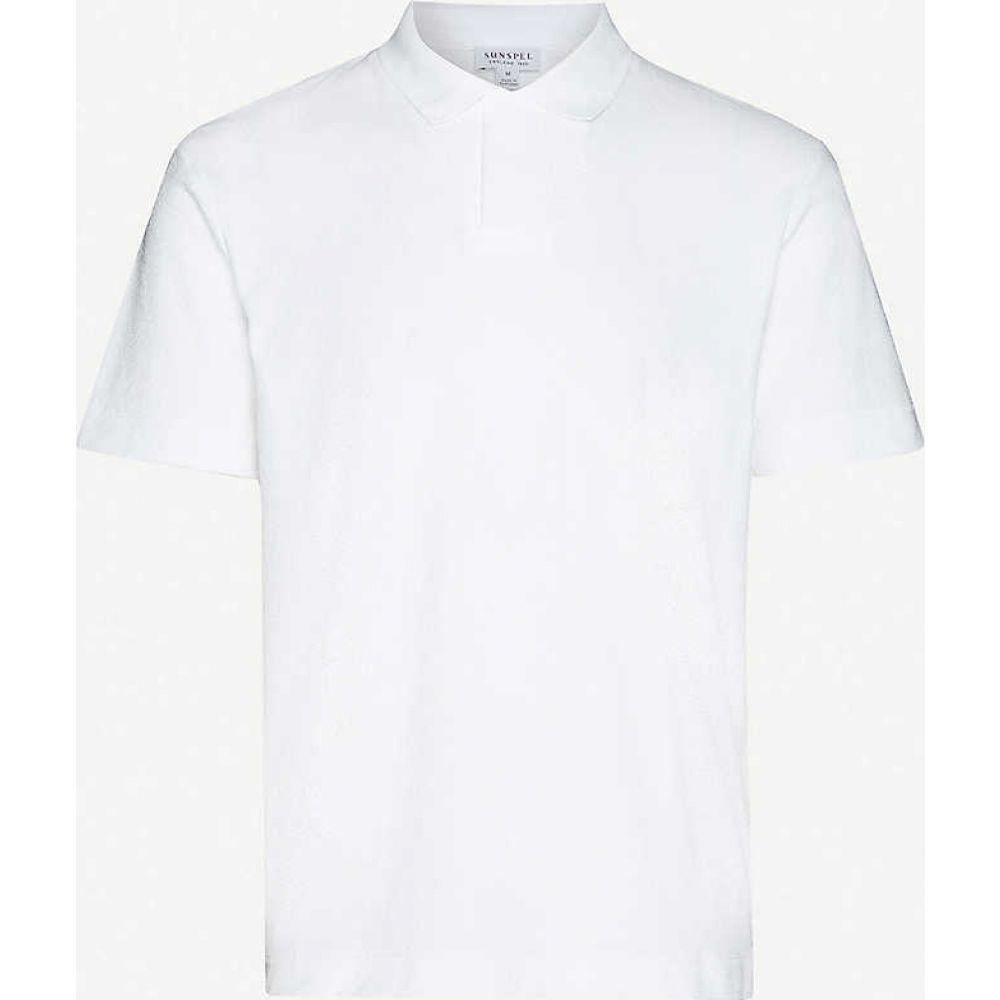 サンスペル SUNSPEL メンズ ポロシャツ トップス【Slim-fit cotton-towelling polo shirt】White