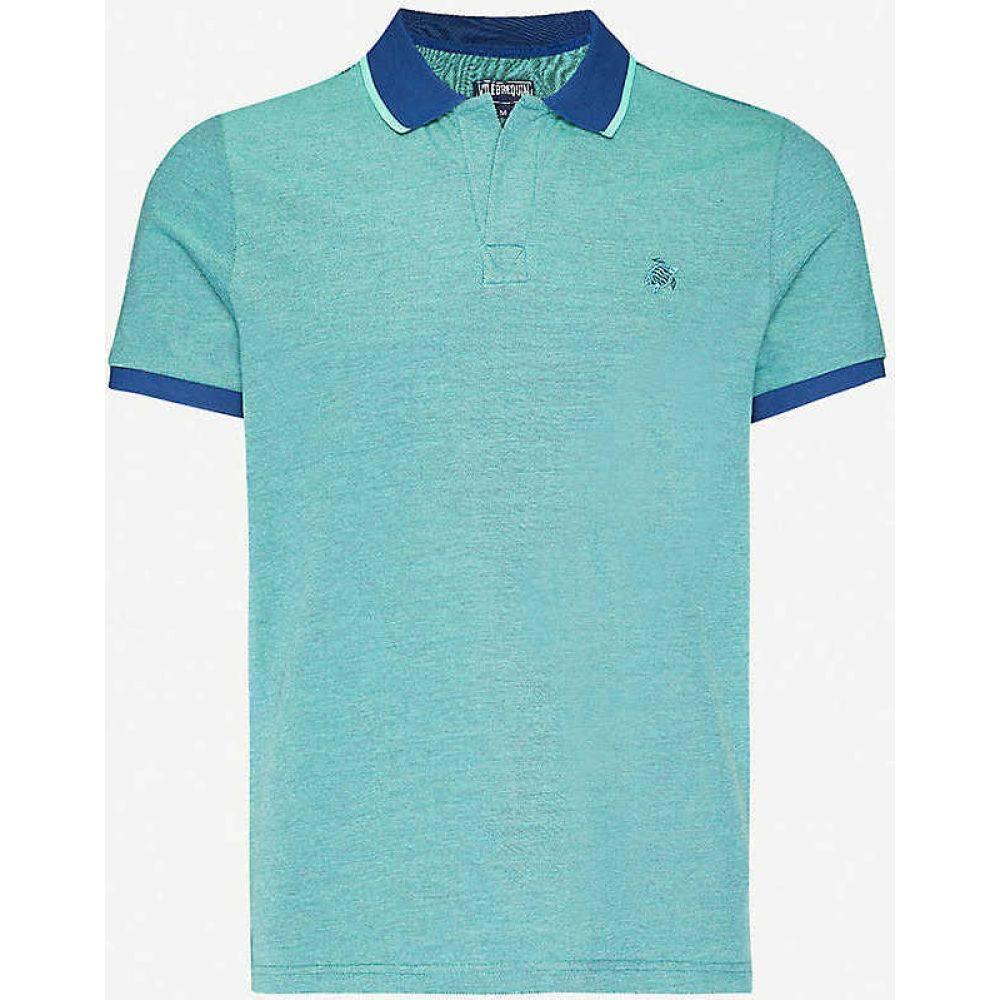 ヴィルブレクイン VILEBREQUIN メンズ ポロシャツ トップス【Embroidered-logo cotton polo shirt】Batik Blue