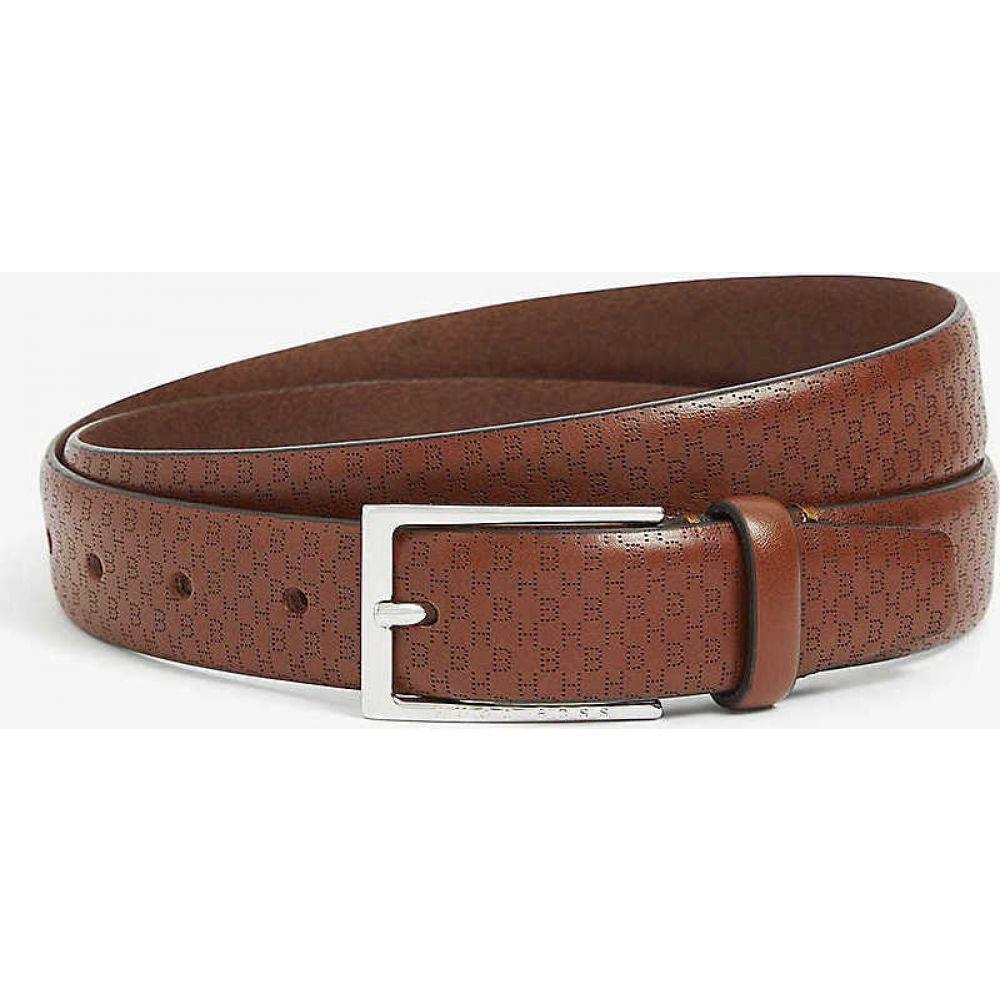 ヒューゴ ボス BOSS メンズ ベルト 【Ceddy logo belt】Medium Brown